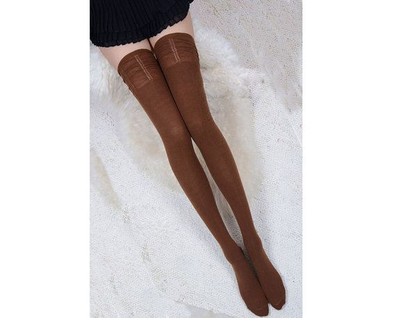 Brown long sock, simple and sexy spring long sockings for girls, cotton bride sockings(SN17)