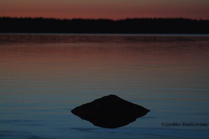 Rock at the lake
