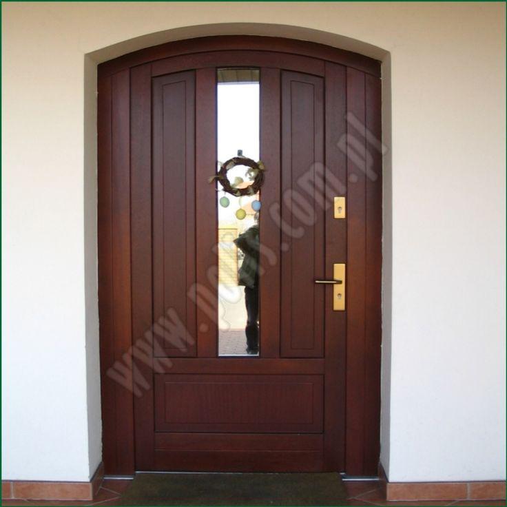 drzwi zewnętrzne, wejściowe, drewniane www.polis.com.pl