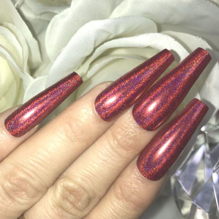 #dieses # bereits #Holographische #mit #nägeln #rot    – rainbow-nails