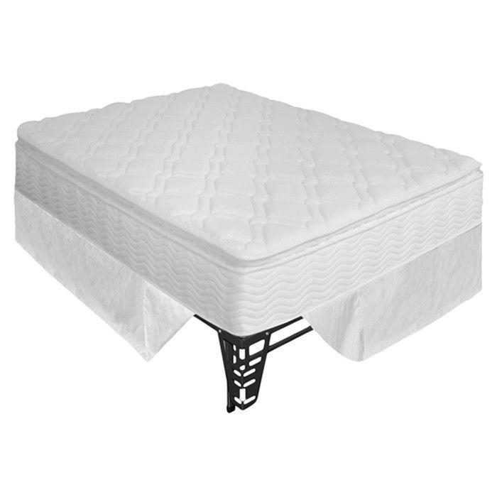 """10"""" Pillow Top Spring Mattress & Steel Foundation Set"""
