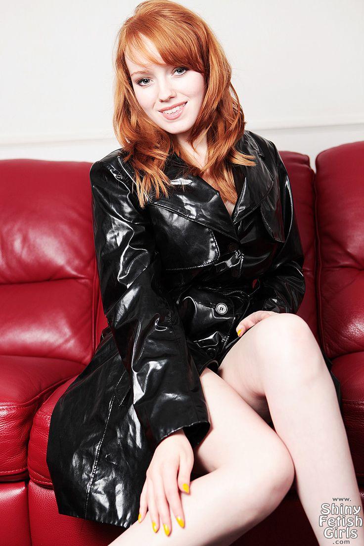 Redhead dominatrix in leather
