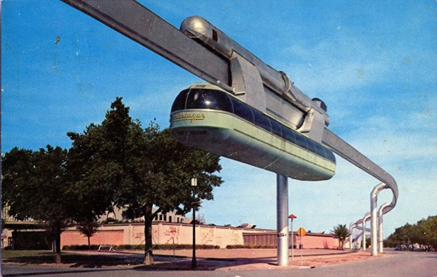 Vintage Postcard Skyway Monorail State Fair Of Texas Fair Park - Houston state fair