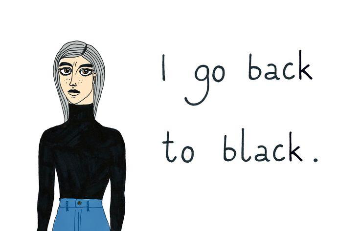 """back to black"", print, B.Byra"