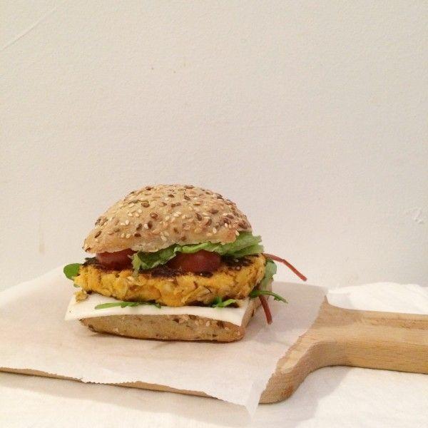 Pompoen-zoete+aardappelburgers