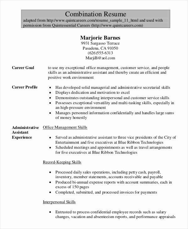 Legal Assistant Resume Examples Fresh 7 Senior Administrative Assistant Resume Temp In 2020 Administrative Assistant Resume Free Resume Samples Sample Resume Templates