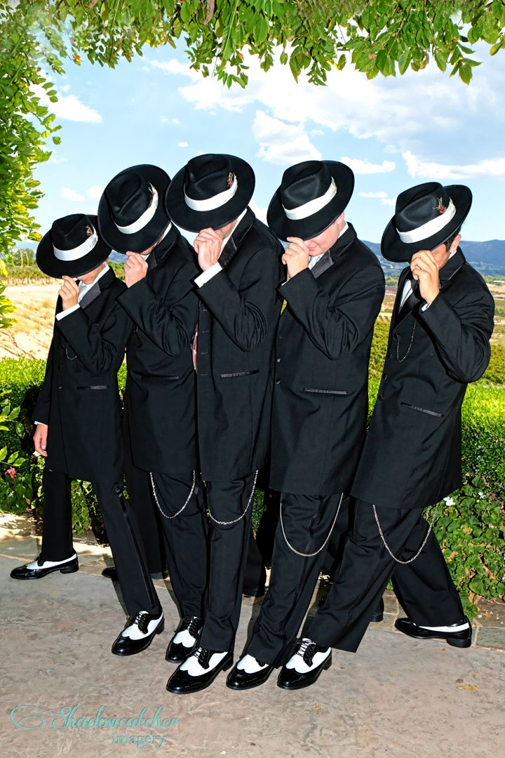 Zoot suit groomsmen, san diego wedding photographer