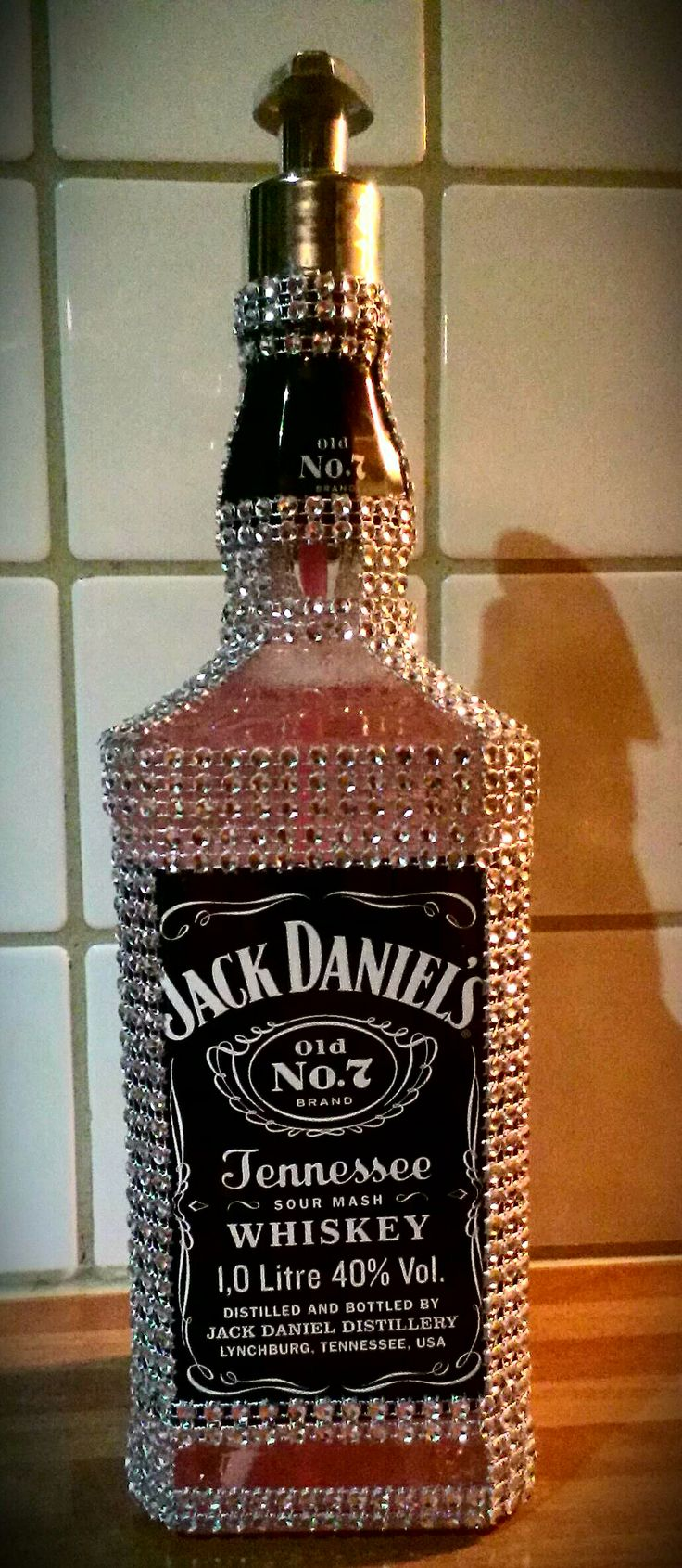 Homemade Jack Daniels bling bling soap dispenser. https://www.facebook.com/blingblingstuff