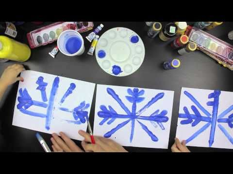 How To Paint A Snowflake With Symmetry - Art For Kids Hub -