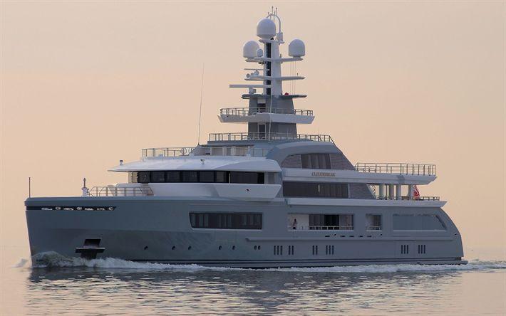 Télécharger fonds d'écran Cloudbreak, de super-yachts, bateaux, yachts de luxe, bateaux de Plaisance