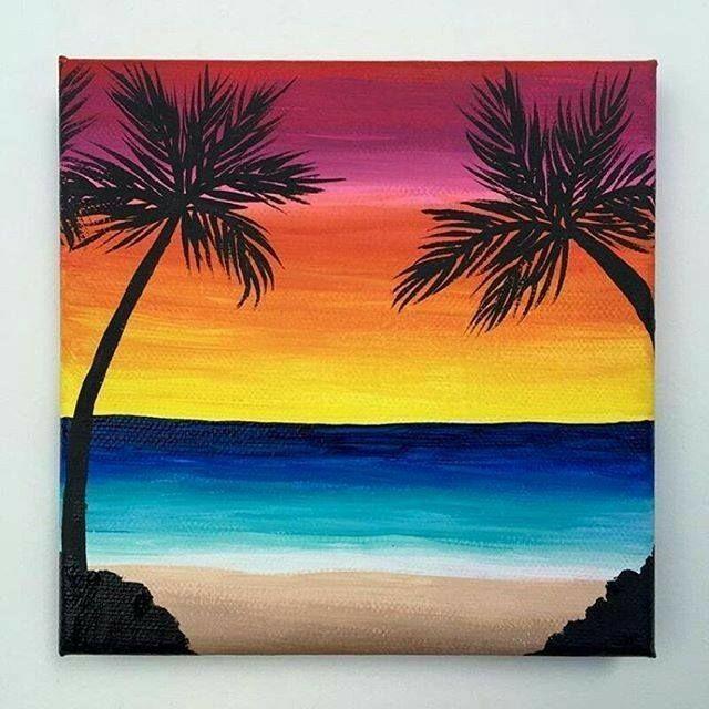 Oil Pastels Ocean Printmaking Ocean Pastels Printmaking Oilpastels In 2020 Beach Art Painting Beach Canvas Paintings Sunset Painting