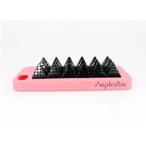 Coral And Black Girly Punk iPhone 5 5S Spiked Phone Case  ***********Shop now and use the code :REPIN to get 15% off and get FREE shipping within the U.S...