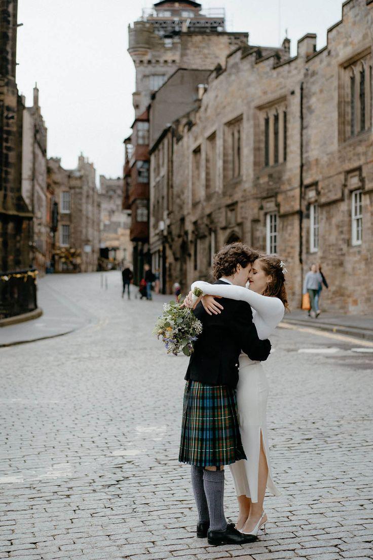 Stylish Edinburgh Elopement in 2020 Scottish elopement