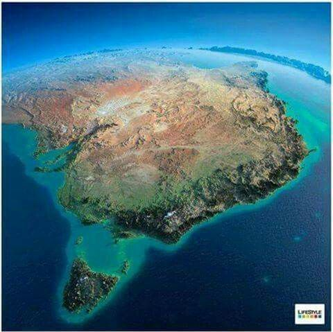 Down Under from space