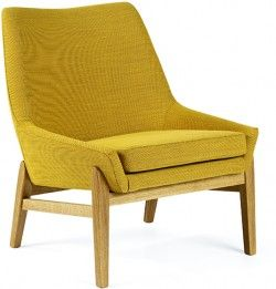 Beautiful yellow Teve Lounge Chair by Jonas Ihreborn