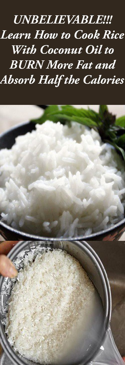 Learn How To Cook Rice with Coconut Oil to BURN More Fat and Absorb Half the Calories!