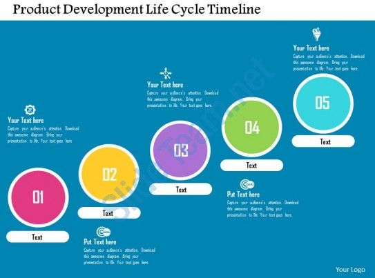 product development life cycle timeline flat powerpoint design Slide01