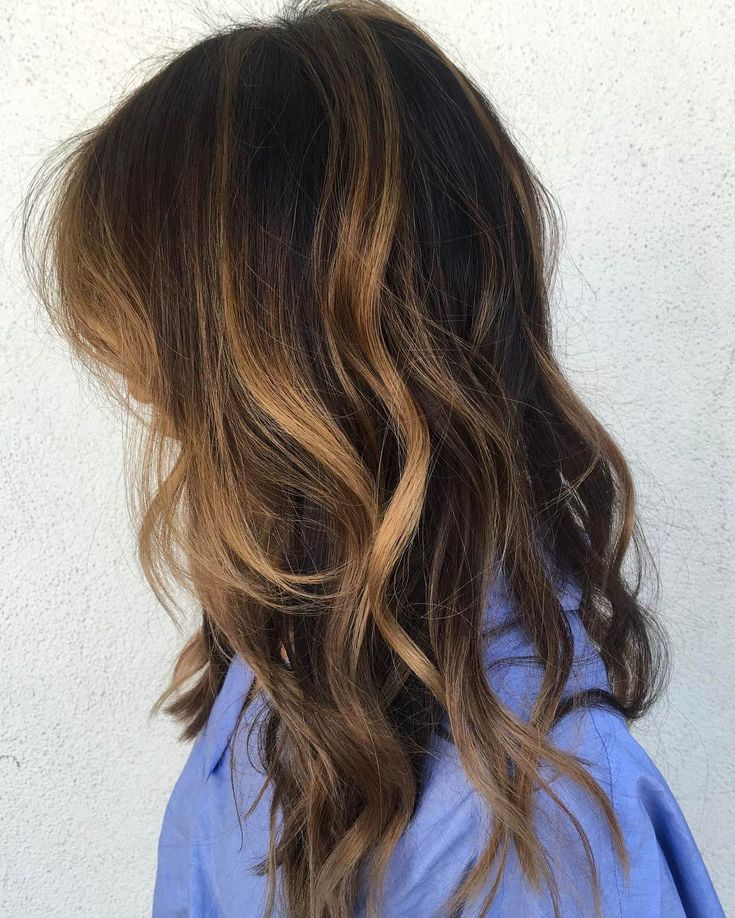 Brown+Hair+With+Partial+Caramel+Highlights