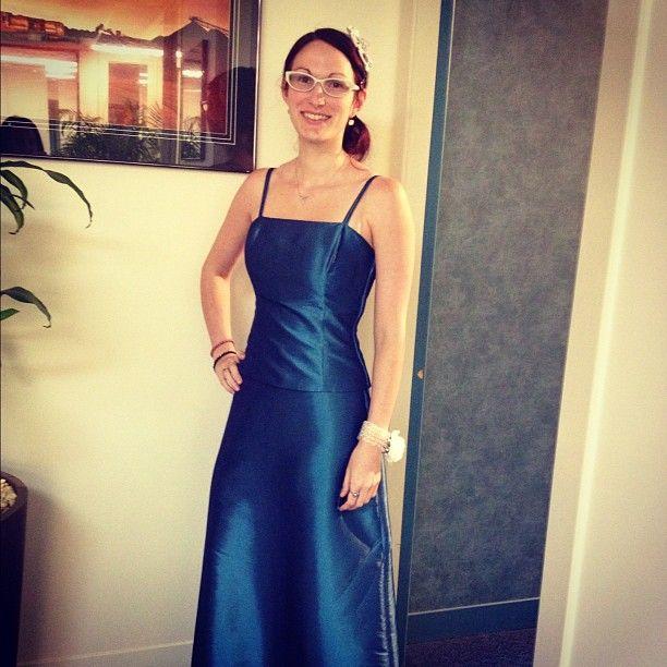Still frocking the formal dress at work for #frocktober