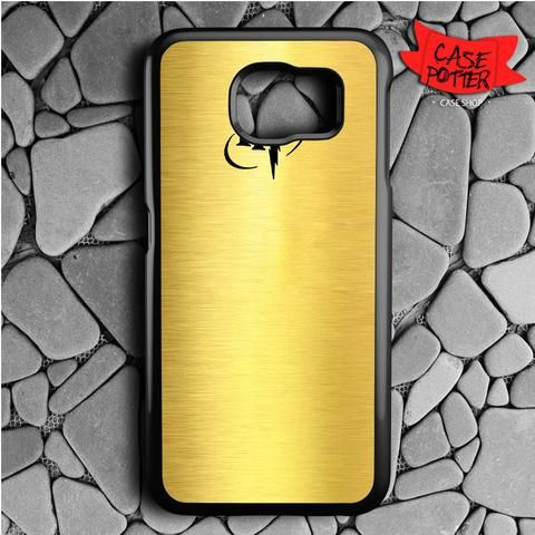 Harry Potter Logo Black Gold Samsung Galaxy S7 Black Case