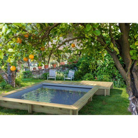 25 best ideas about piscine enterr e on pinterest mini piscine mini piscine and mini piscine for Piscine semi enterree en bois leroy merlin