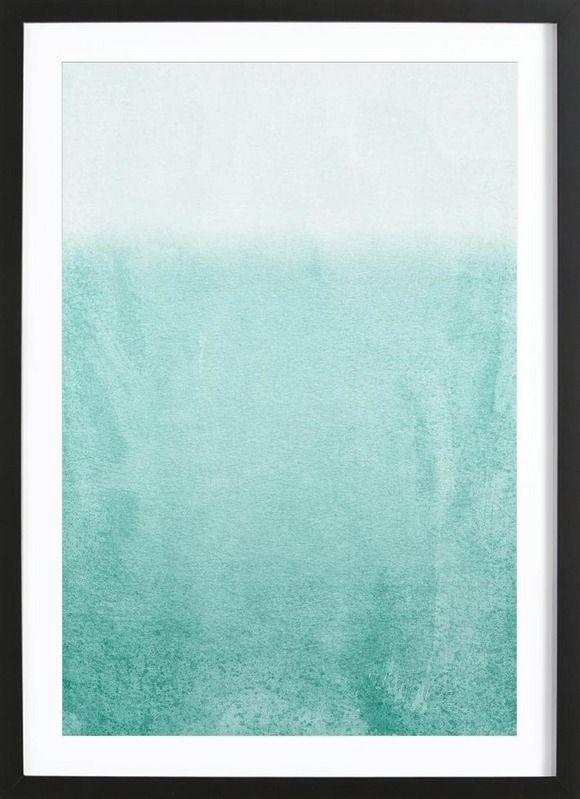 Fading Aqua als Gerahmtes Poster von Monika Strigel | JUNIQE