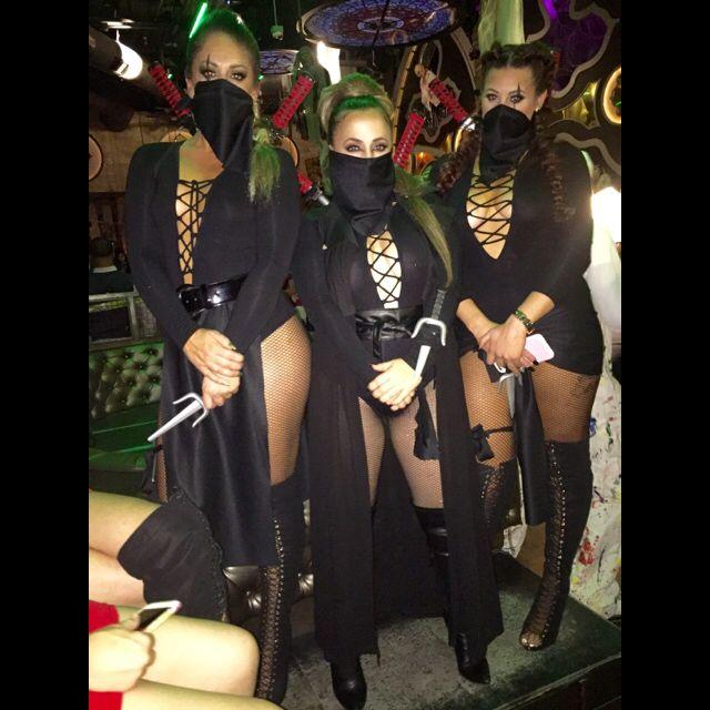Women Ninja Halloween Costumes ! cute! DIY ADULT Women Group of 3. Matching costumes