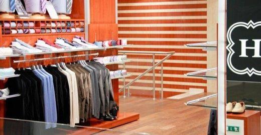 Магазин классические костюмы в торговом центре бум