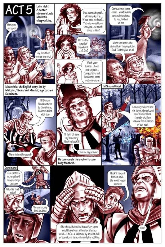 A scene from a Shakespearean comic - Macbeth. For more information please visit - astridcastle.com