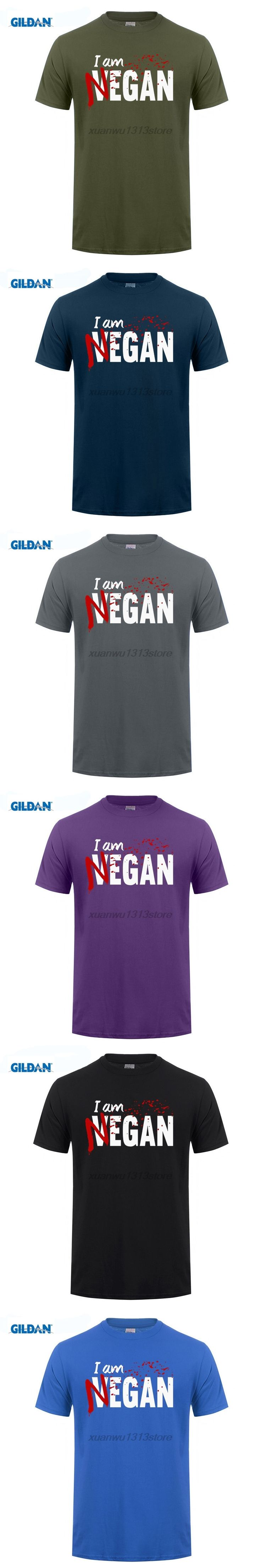 GILDAN I'm Negan T Shirt Male Arrival Simple Camiseta Loose The Walking Dead T-Shirts Negan Short Sleeve O Neck Teenboy Clothes