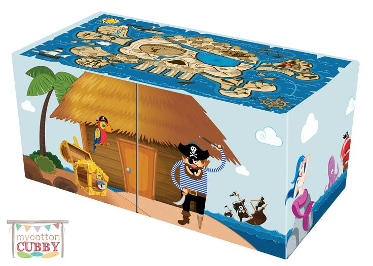 My Cotton Cubby - Pirate Design Front www.mycottoncubby.com.au #mycottoncubby #piratecubby #kidscubby #cubbyhouse #kidscubbyhouse #kidsfun