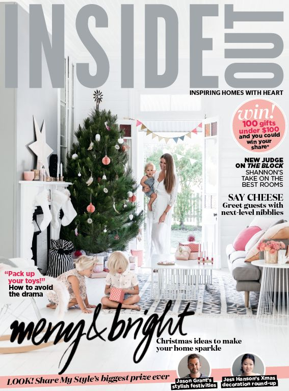 The cover of the November 2016 issue of Inside Out magazine. Styling by Vanessa Colyer Tay. Photography by Maree Homer. Available from newsagents, Zinio, https://au.zinio.com/magazine/Inside-Out-/pr-500646627/cat-cat1680012#/, Google Play, https://play.google.com/store/newsstand/details/Inside_Out?id=CAowu8qZAQ, Apple's Newsstand,https://play.google.com/store/newsstand/details/Inside_Out?id=CAowu8qZAQ, and Nook.