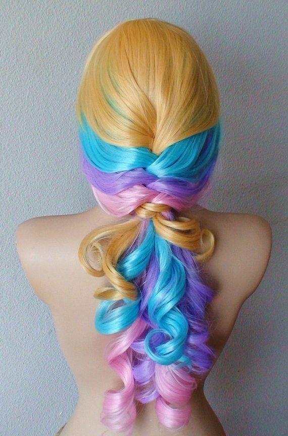 lolita pastel colored wig by kekeshop 9750 - Colored Wig