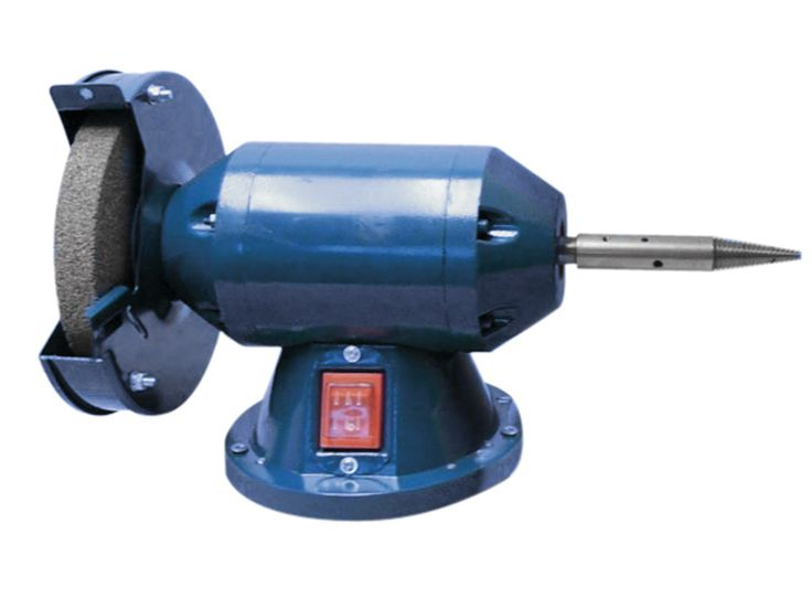 Economy Bench Grinder Polisher 200 Watt 150mm And Spindle With End    Hole