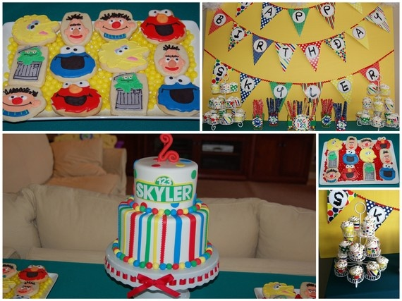 Sesame123 Party With MeStandard Printable Birthday by Dimpleprints, $10.00