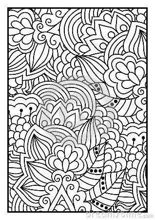 Modello Floreale Per Il Libro Da Colorare Illustrazione Vettoriale - Immagine: 59691561