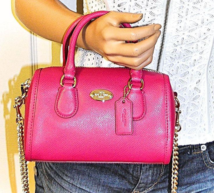 7ebb3933820 ... switzerland coach baby bennett mini leather satchel bag pink purse nwt  i want you pinterest purses