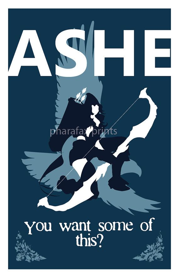 Ashe League of Legends Print by pharafax on Etsy, $16.00