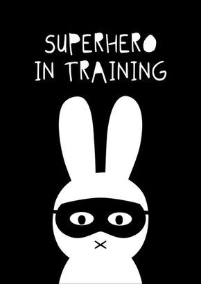SuperHero Bunny | Ginger Monkey Kids Prints & Wall Decals