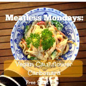 Vegan Cauliflower Carbonara Recipe @ Free BEM Life.com
