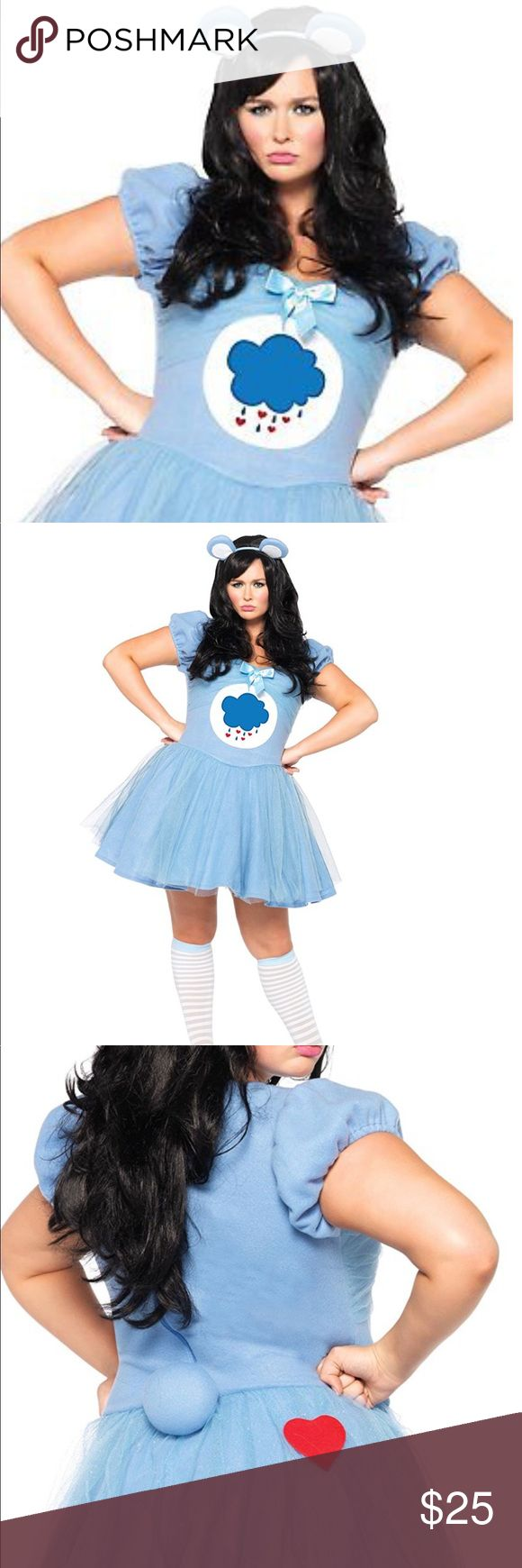 Plus size care bear costume Only worn once!!  Leggings and shoes not included. Only comes with dress and ears. Size 3X-4X Other