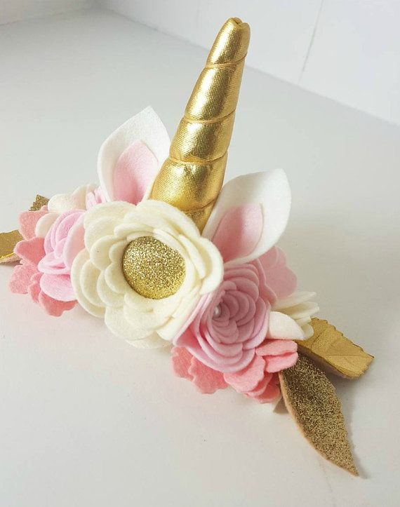 Stunning Unicorn Crown made with 100% merino wool felt, perfect for a birthday celebration, photo-shoot or just because you might feel like being