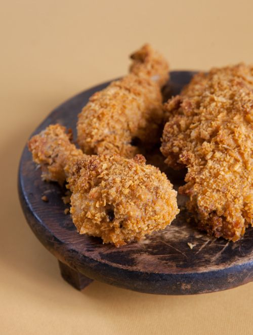 Finto Pollo Fitto: Pollo al forno con cornflakes Fake-Fried Cornflake Chicken