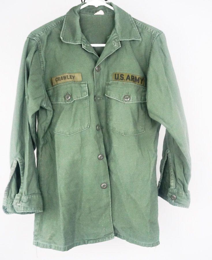 Vietnam War US Army Uniform Jungle Fatigue Shirt 1970s Vintage Military OD Green by LittleRiverVintage on Etsy