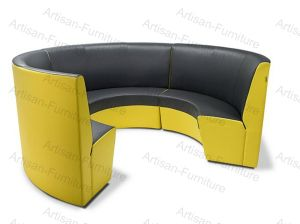 China Half Round Restaurant Booth Sofa Curved Restaurant Sofa ...