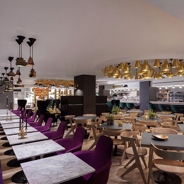 Design Research Studio deliver their latest project: Sandwich by Tom Dixon. A gastronomic oasis in the heart of Harrods.