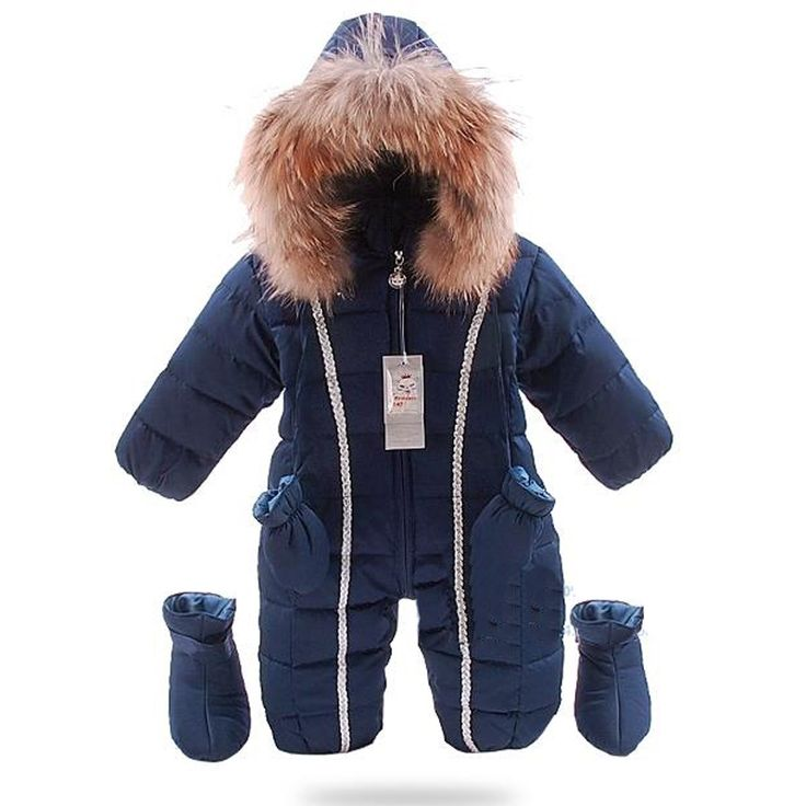 57.99$  Watch here - http://alizx0.worldwells.pw/go.php?t=32756222795 - the cold winter clothes suits the newborn warm coverall Snowsuit jackets fur collar duck down waterproof overalls boy girl 57.99$