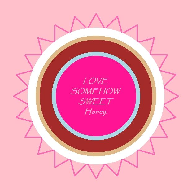 Kat's Switchphrase for June 29, 2015 LOVE-SOMEHOW-SWEET-Honey. (Generate, radiate and experience love and acceptance, release the details and let it be, be soothing and caring, let go of bitterness and replace it with soft, tender, sweetness.) I am presenting this inside a Light Pink Background Indian Pink Energy Circle