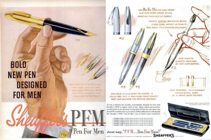 """Before Bic Pens For Her, Sheaffer's """"Pen for Men,"""" 1959   I LOVED_LOVED_LOVED MINE"""