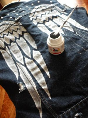 In spring layering few things are more versatile than a denim vest. So pick your stencil and make it yours.